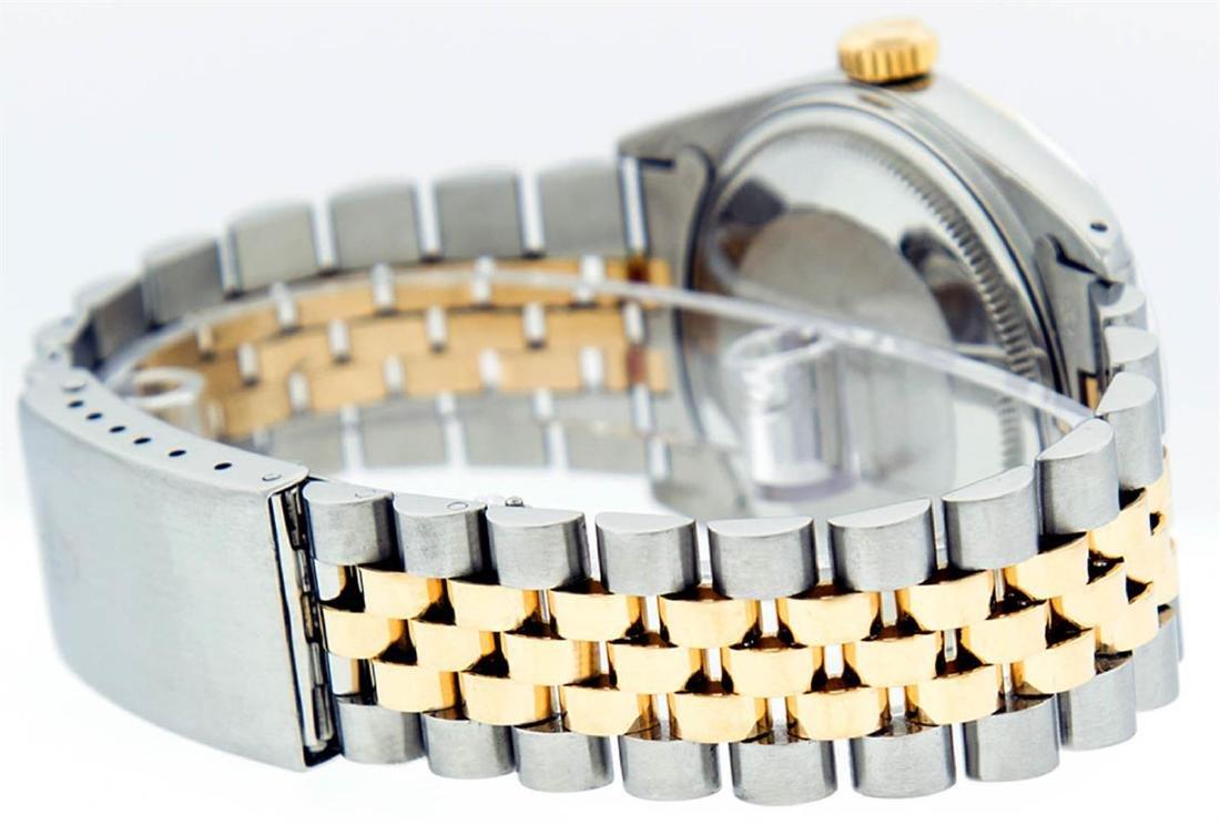 Rolex Mens 2 Tone 14K Black Diamond 36MM Datejust - 8