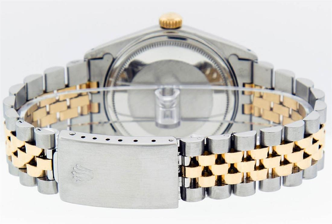 Rolex Mens 2 Tone 14K Black Diamond 36MM Datejust - 9