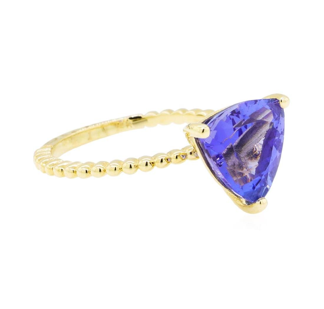3.26 ctw Tanzanite Ring - 14KT Yellow Gold