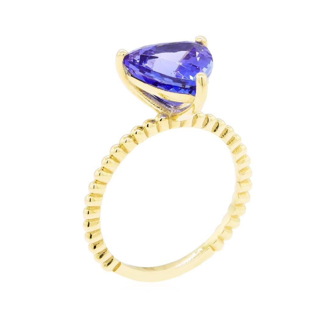 3.26 ctw Tanzanite Ring - 14KT Yellow Gold - 4