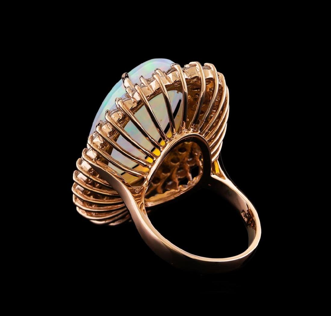 16.01 ctw Opal and Diamond Ring - 14KT Rose Gold - 3