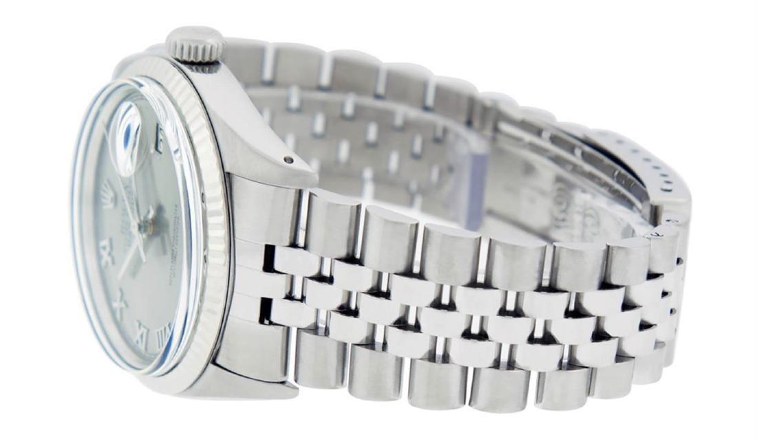 Rolex Mens Stainless Steel 36MM Slate Grey Roman - 5
