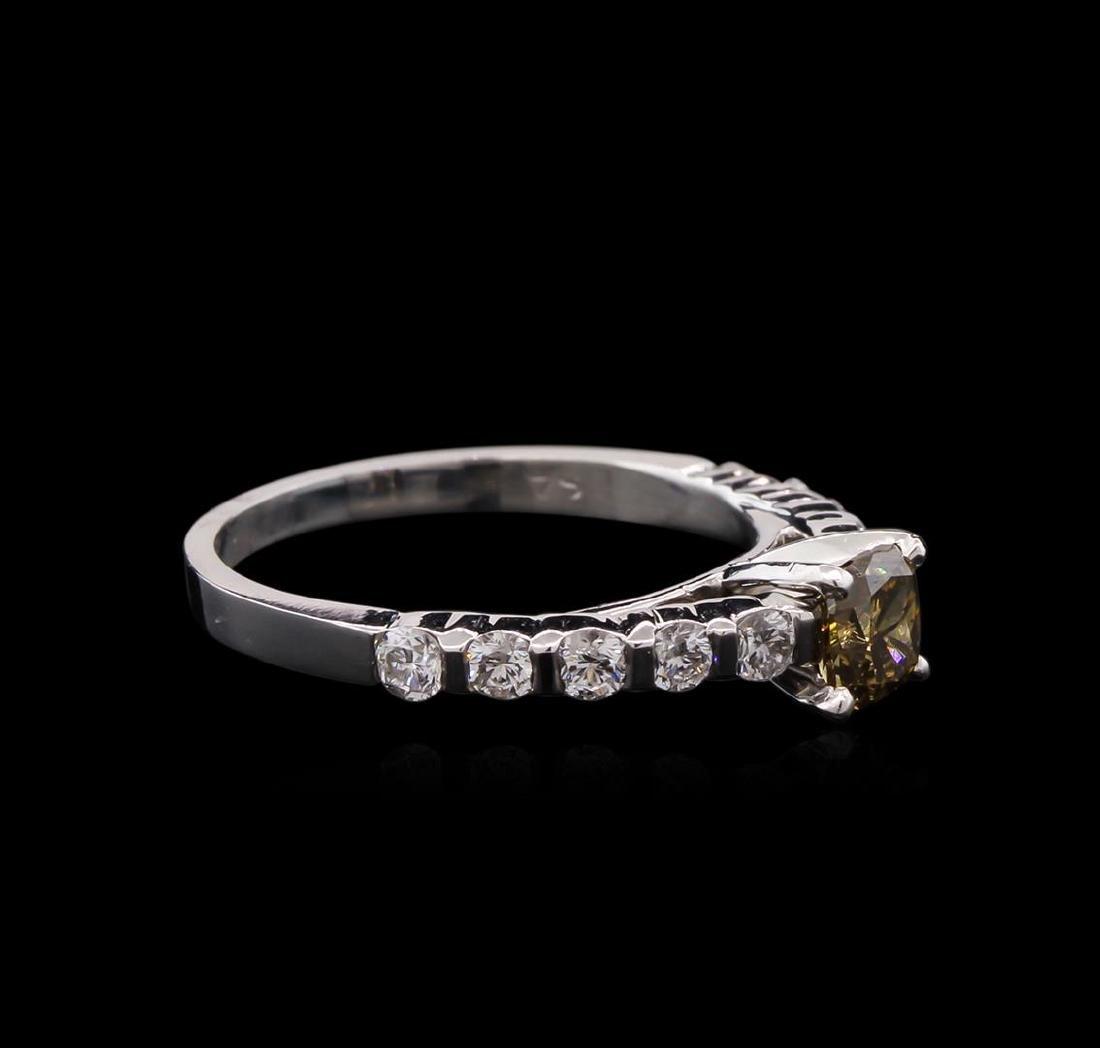 2.01 ctw Fancy Dark Brown Diamond Ring - 14KT White - 2
