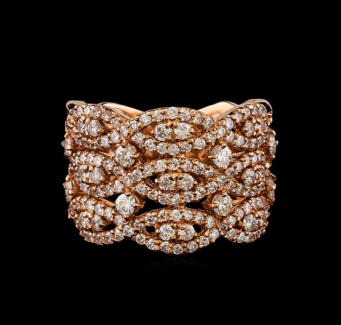 14KT Rose Gold 1.22 ctw Diamond Ring - 2