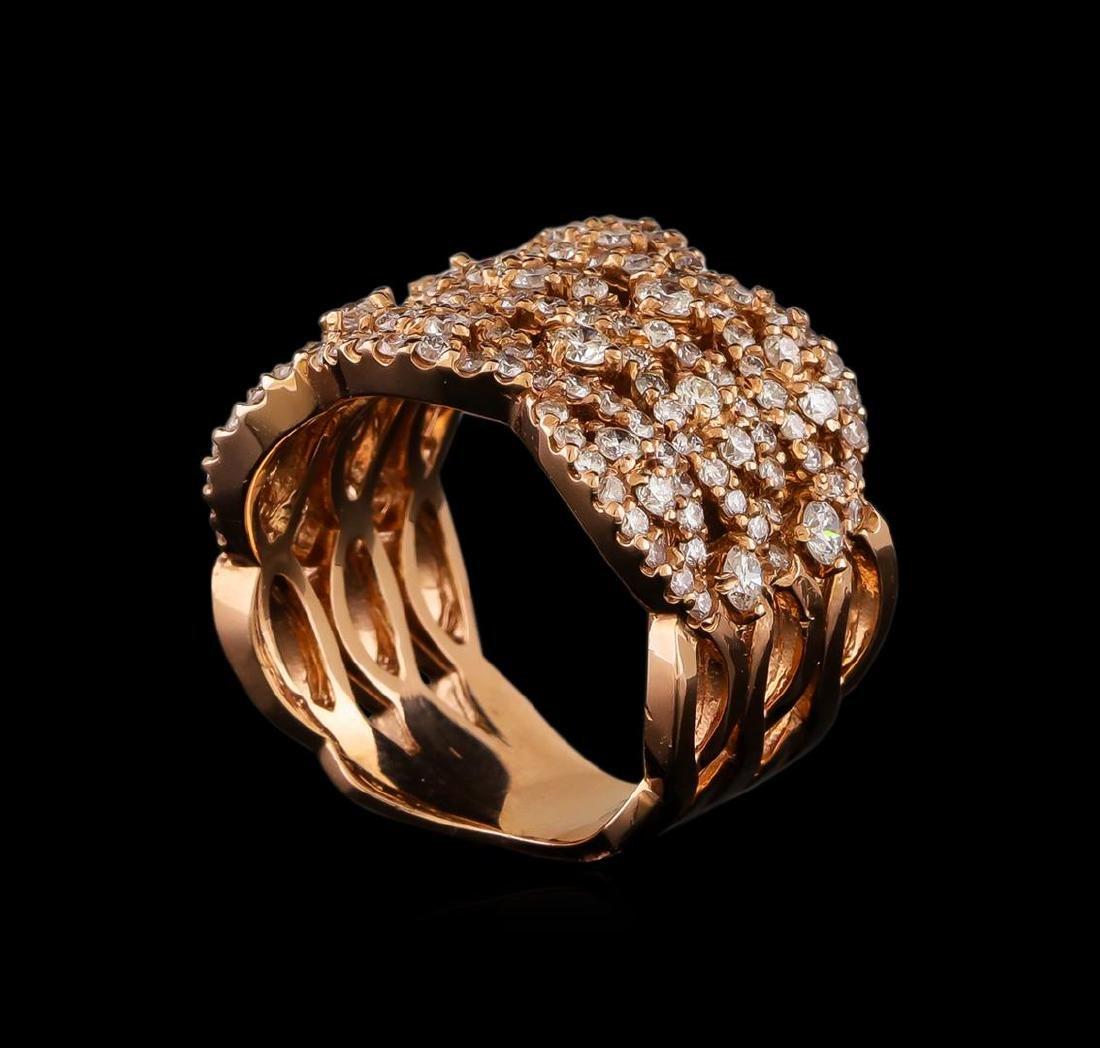 14KT Rose Gold 1.22 ctw Diamond Ring - 4