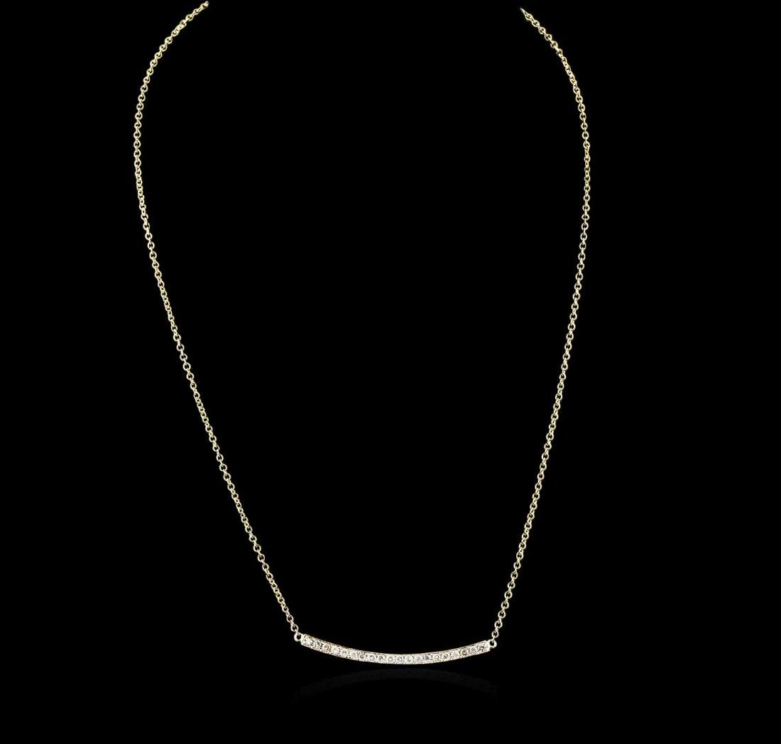 14KT Yellow Gold 0.84 ctw Diamond Necklace - 2