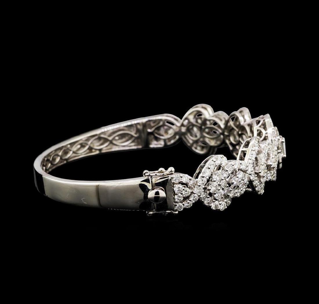 6.53 ctw Diamond Bracelet - 18KT White Gold - 2