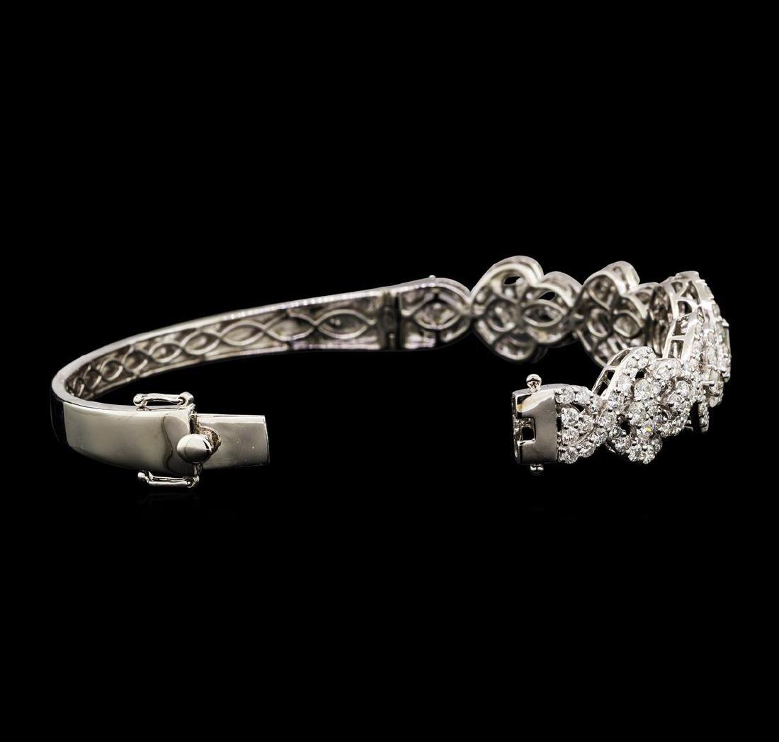 6.53 ctw Diamond Bracelet - 18KT White Gold - 3