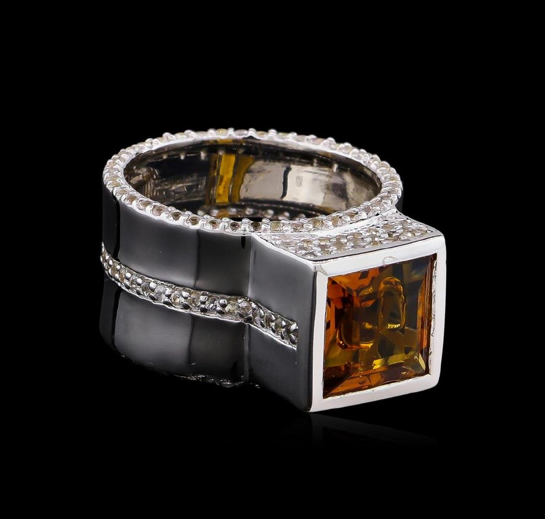 Crayola 3.50 ctw Citrine and White Sapphire Ring - .925