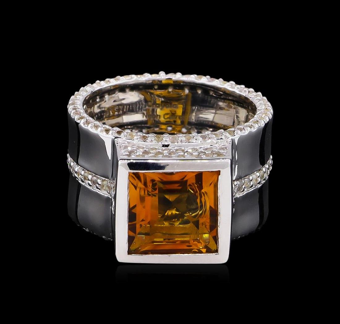 Crayola 3.50 ctw Citrine and White Sapphire Ring - .925 - 2