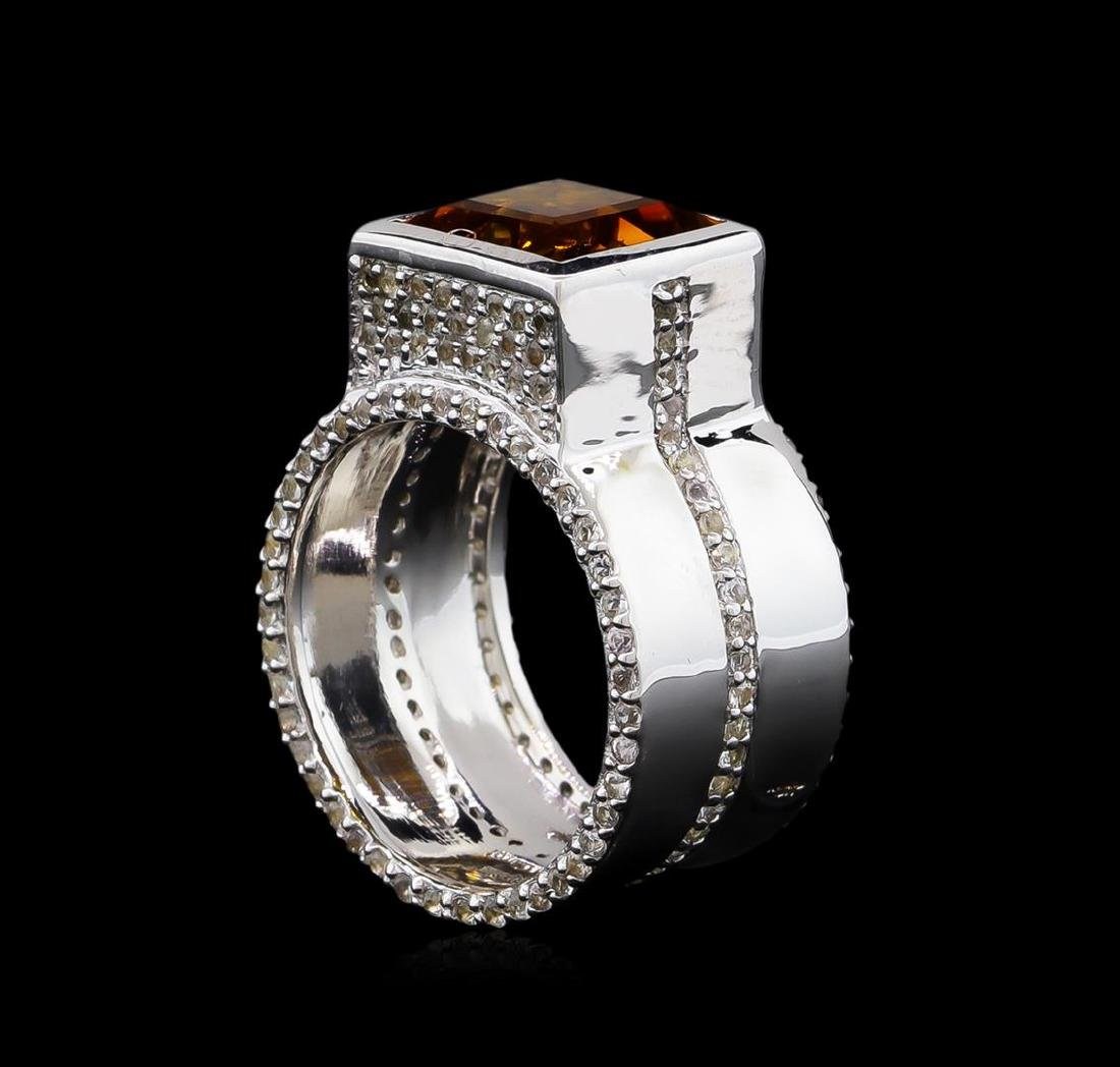 Crayola 3.50 ctw Citrine and White Sapphire Ring - .925 - 4