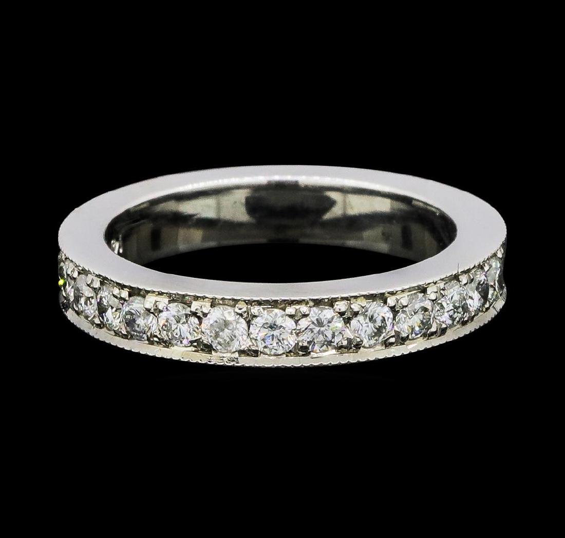 1.02 ctw Diamond Eternity Ring - 14KT White Gold - 2