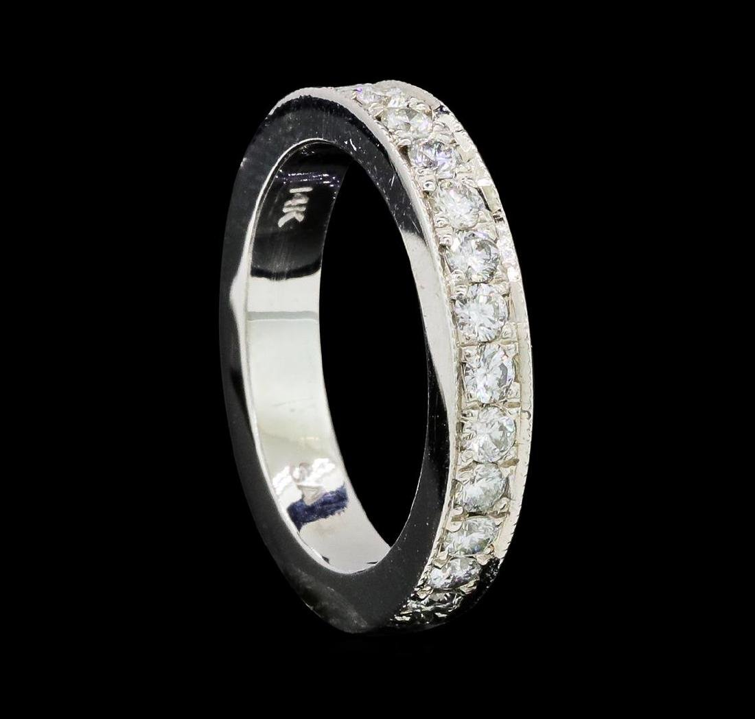 1.02 ctw Diamond Eternity Ring - 14KT White Gold - 4