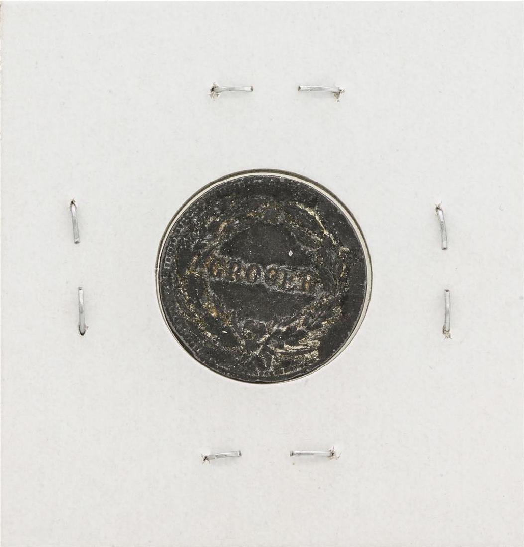 1863 Civil War Token WM Thierbach Grocer New York - 2