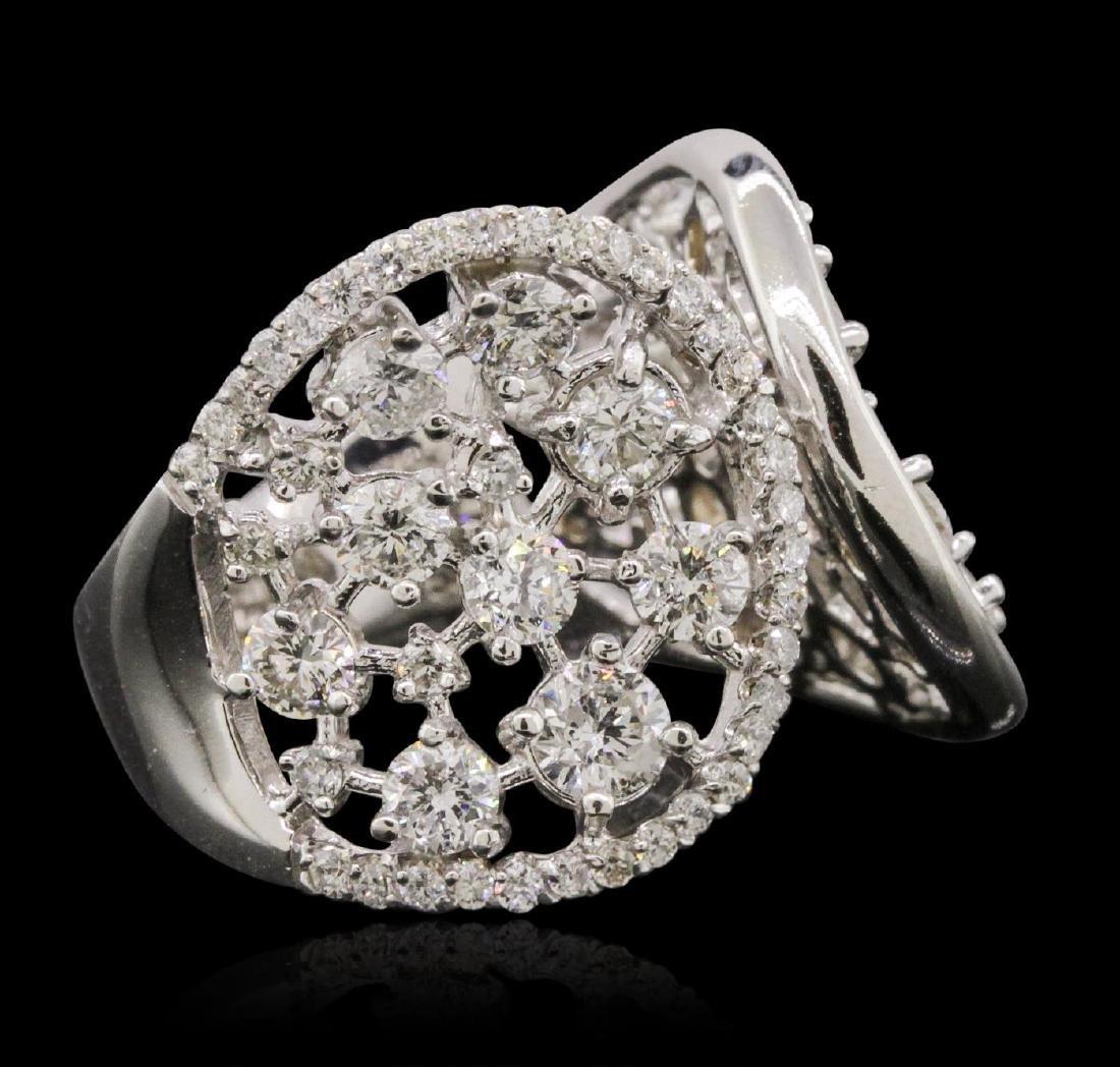 14KT White Gold 3.81 ctw Diamond Ring - 2