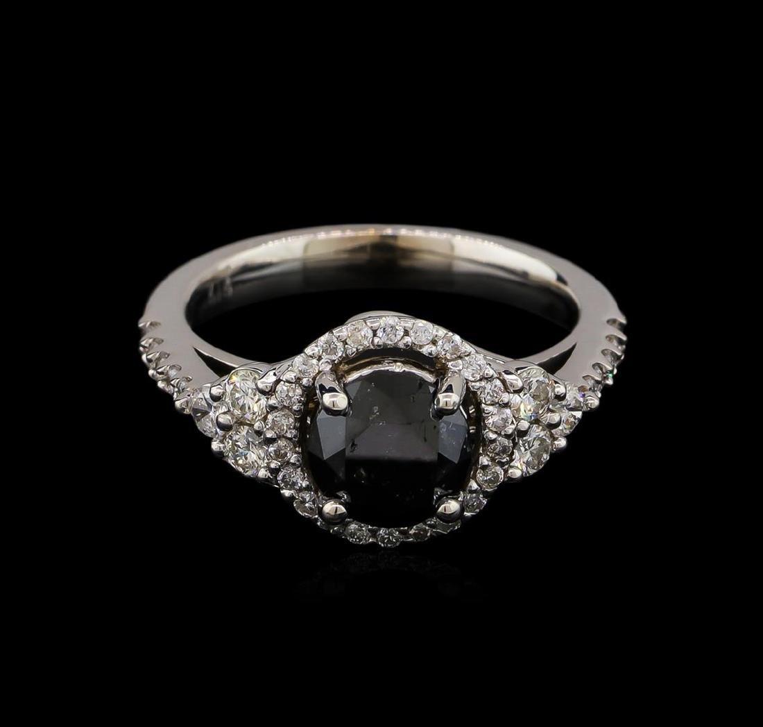 2.50 ctw Black Diamond Ring - 14KT White Gold - 2