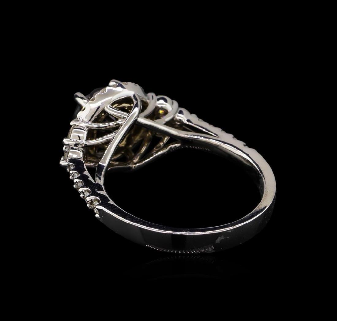 2.50 ctw Black Diamond Ring - 14KT White Gold - 3