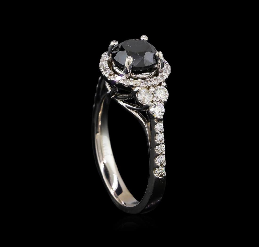 2.50 ctw Black Diamond Ring - 14KT White Gold - 4