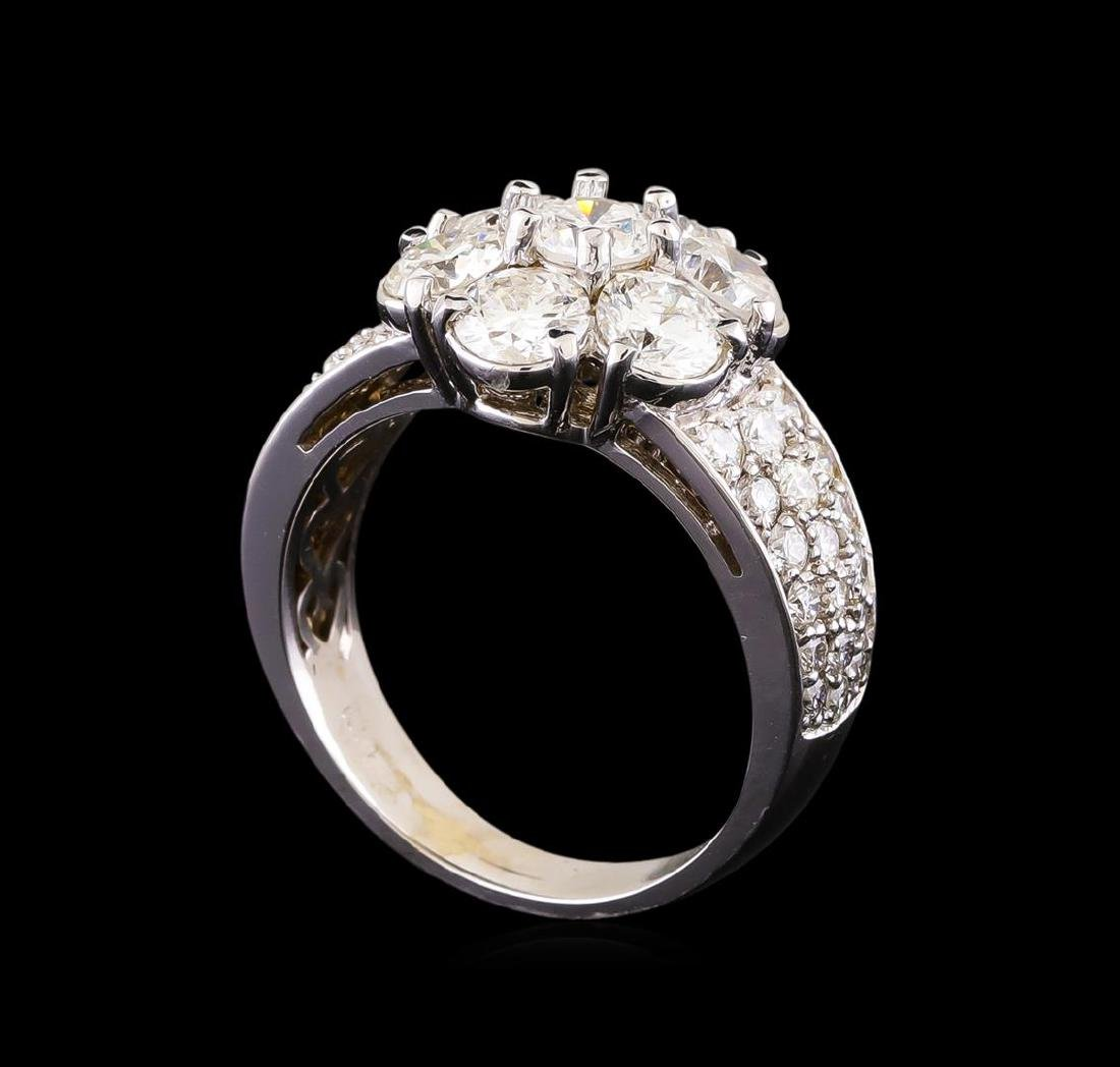 14KT White Gold 2.42 ctw Diamond Ring - 4