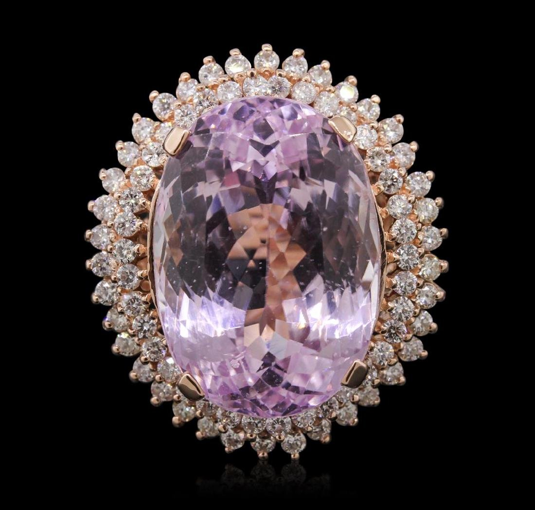 14KT Rose Gold 39.46 ctw GIA Certified Kunzite and - 2