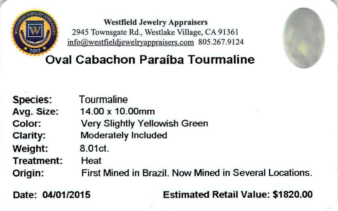8.01 ctw Cabochon Paraiba Tourmaline Parcel - 2