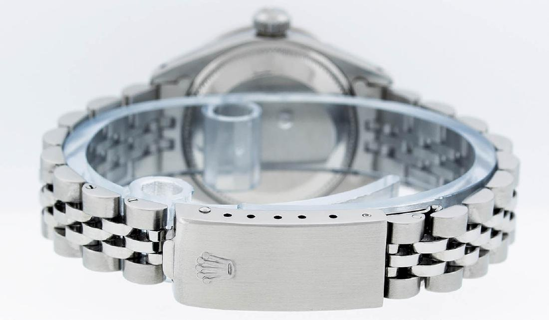 Rolex Ladies Stainless Steel Mother Of Pearl Diamond & - 7