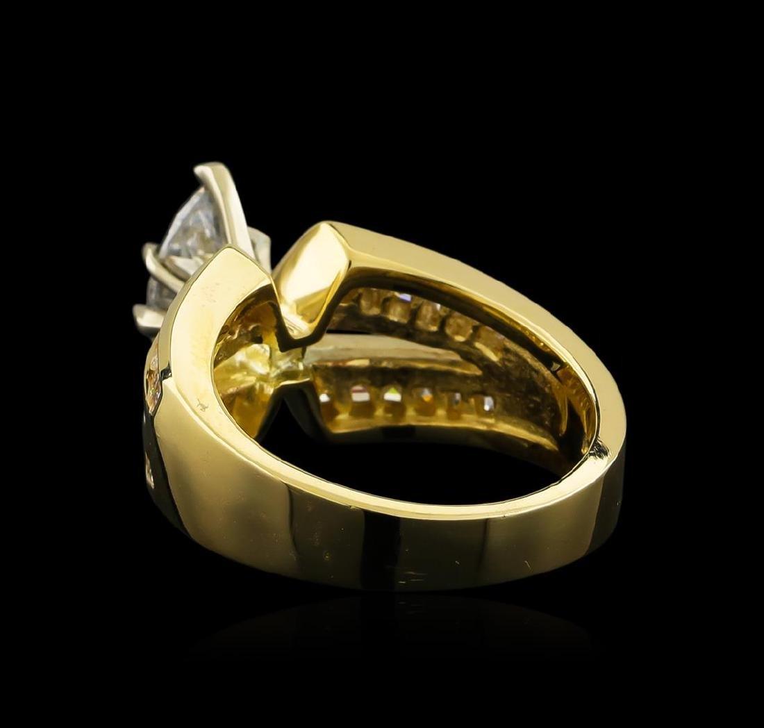 2.17 ctw Diamond Ring - 14KT Yellow Gold - 2