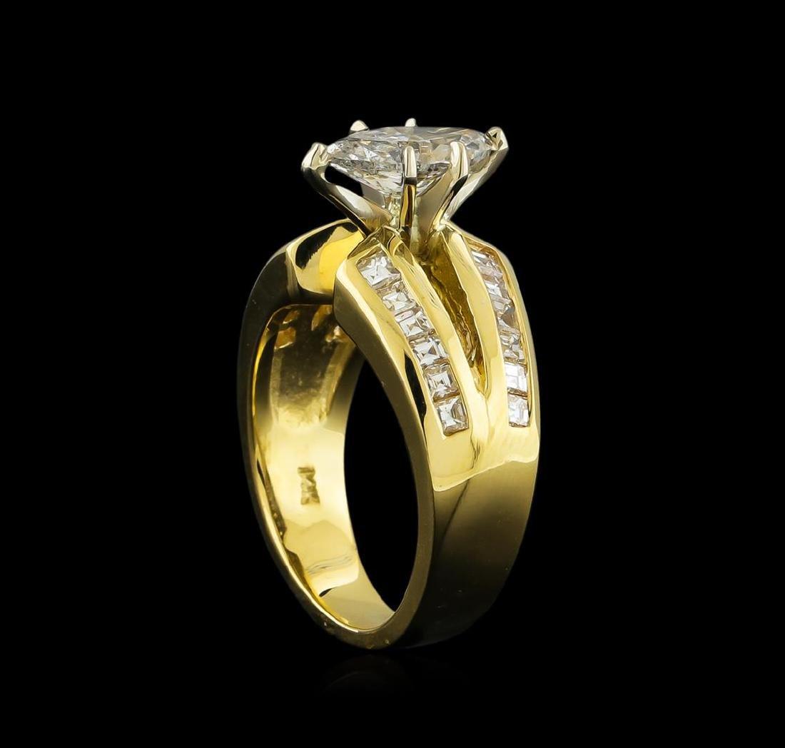 2.17 ctw Diamond Ring - 14KT Yellow Gold - 3