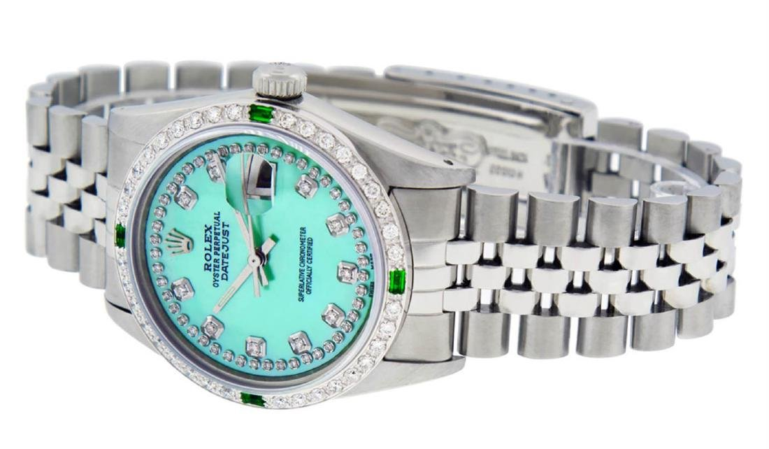 Rolex Mens Stainless Steel Green Mother Of Pearl - 3