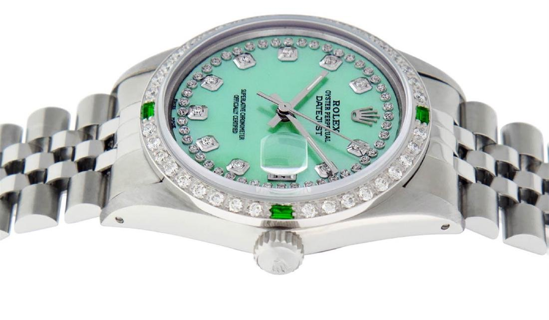 Rolex Mens Stainless Steel Green Mother Of Pearl - 5