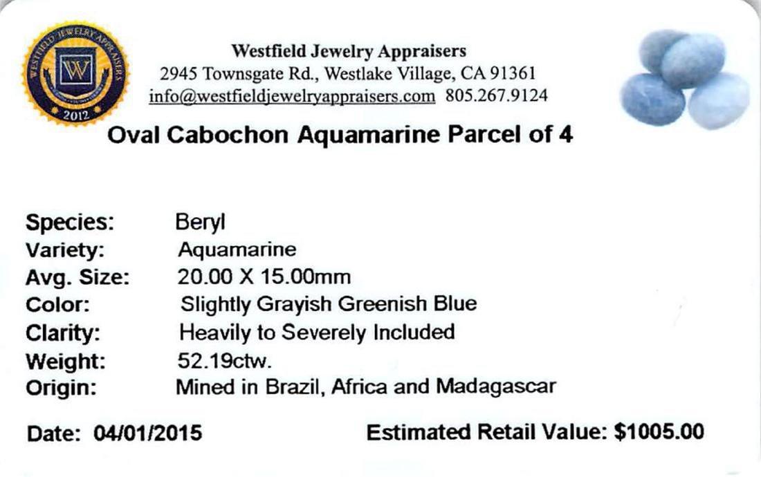 52.19 ctw Cabochon Aquamarine Parcel - 2
