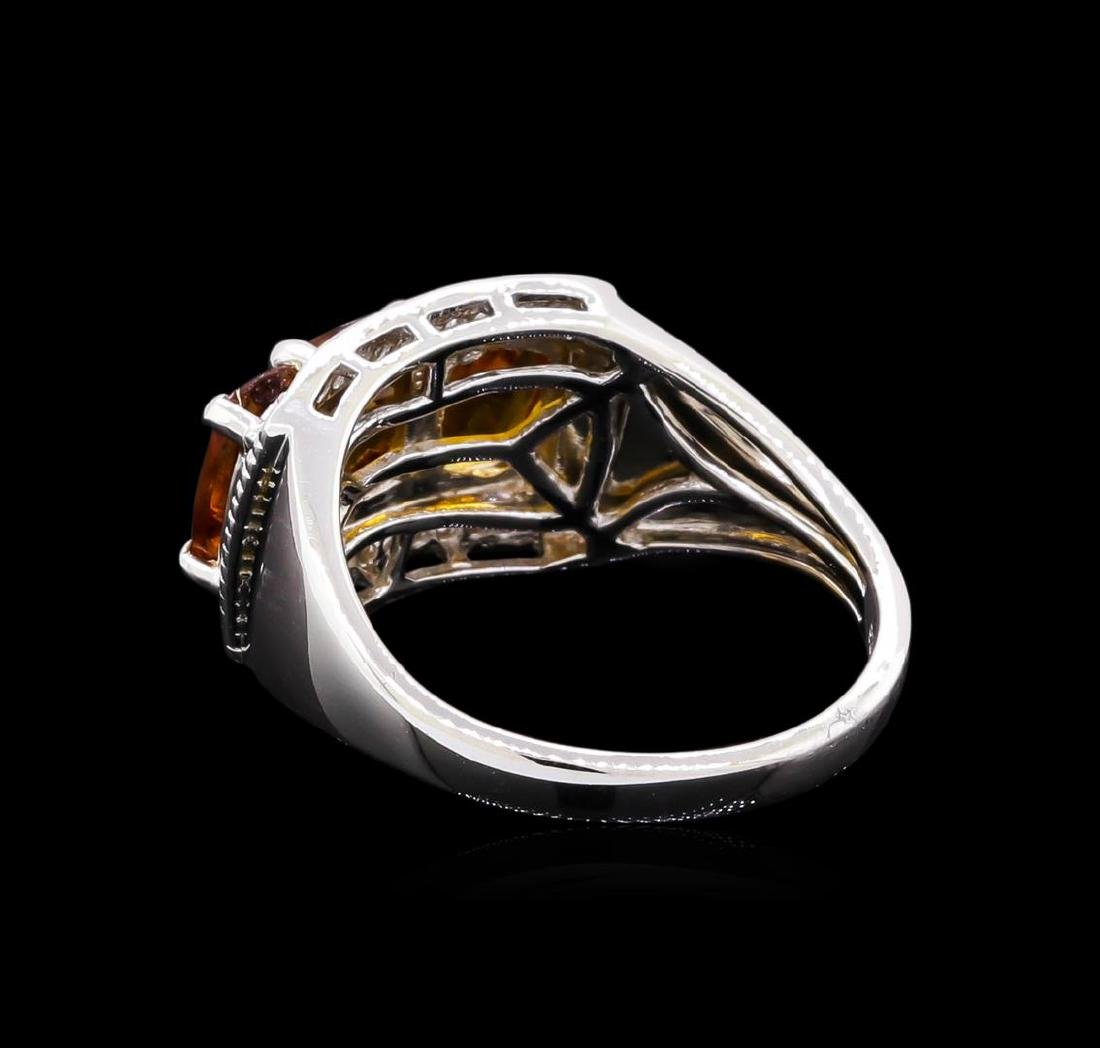 Crayola 2.40 ctw Citrine and White Sapphire Ring - .925 - 3