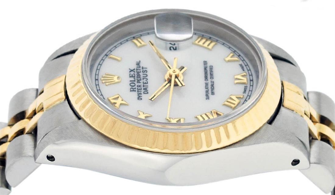 Rolex Ladies 2 Tone 14K White Roman 26MM Datejust - 5