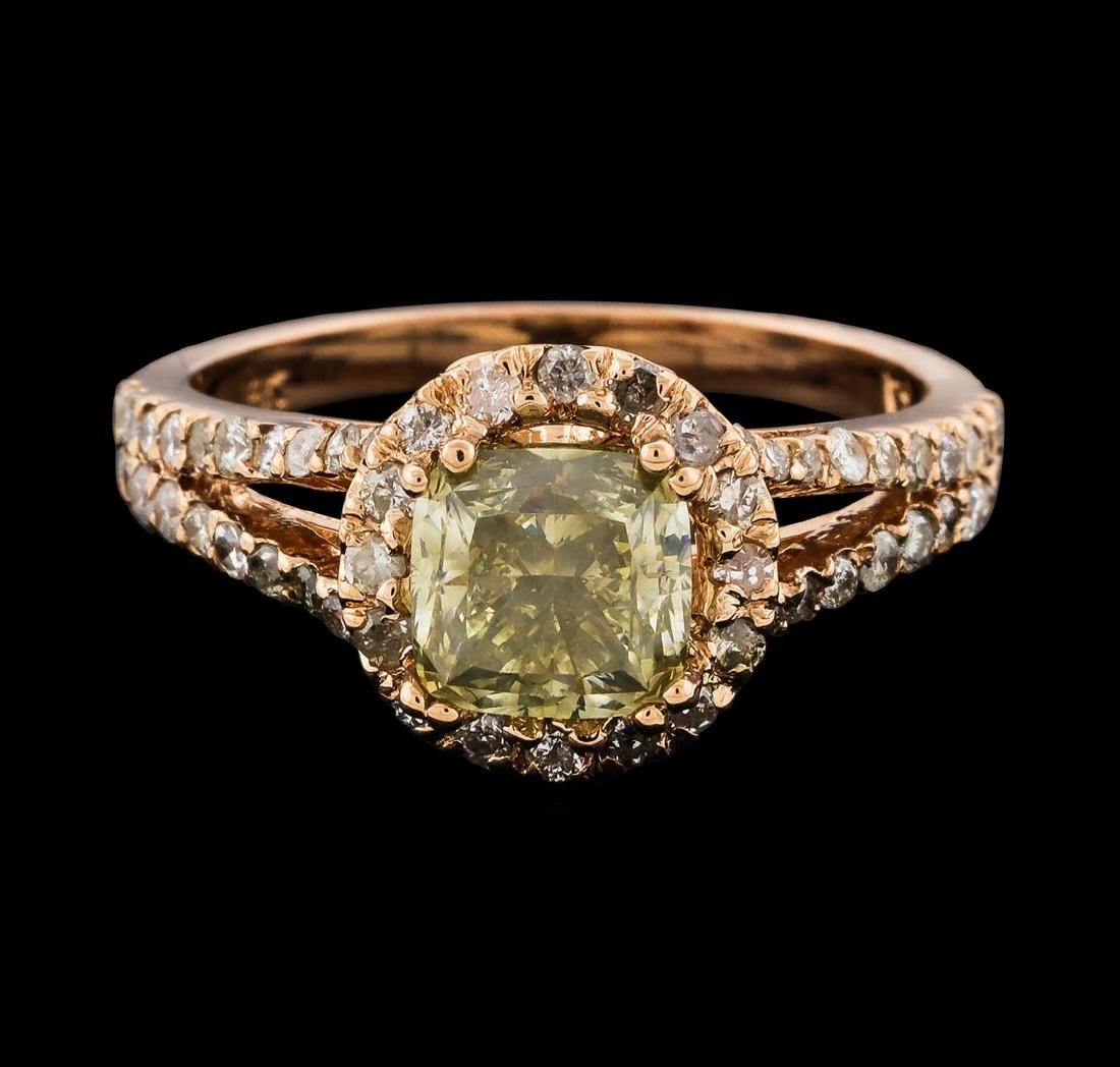 2.43 ctw Diamond Ring - 14KT Rose Gold - 2