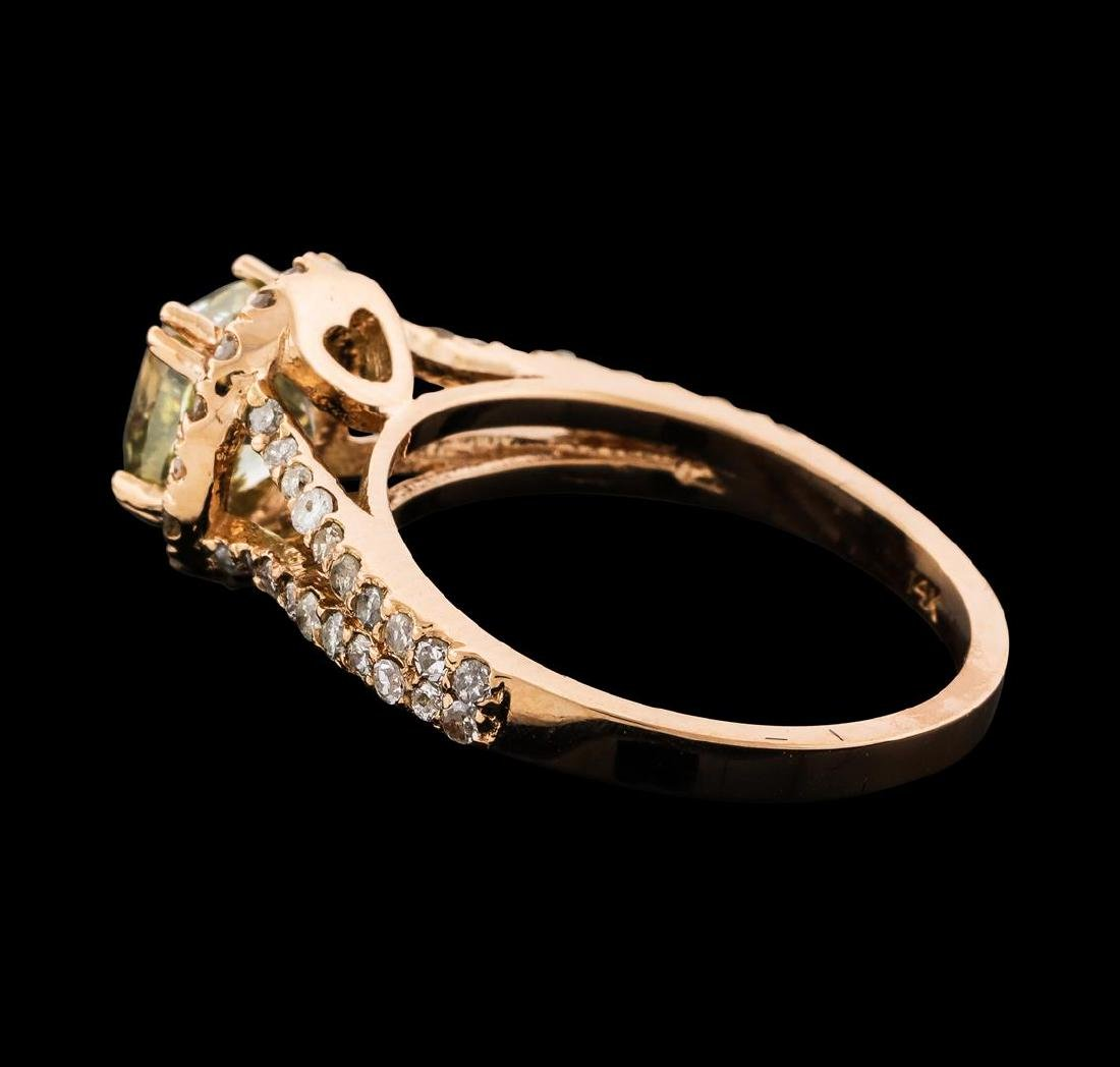2.43 ctw Diamond Ring - 14KT Rose Gold - 3