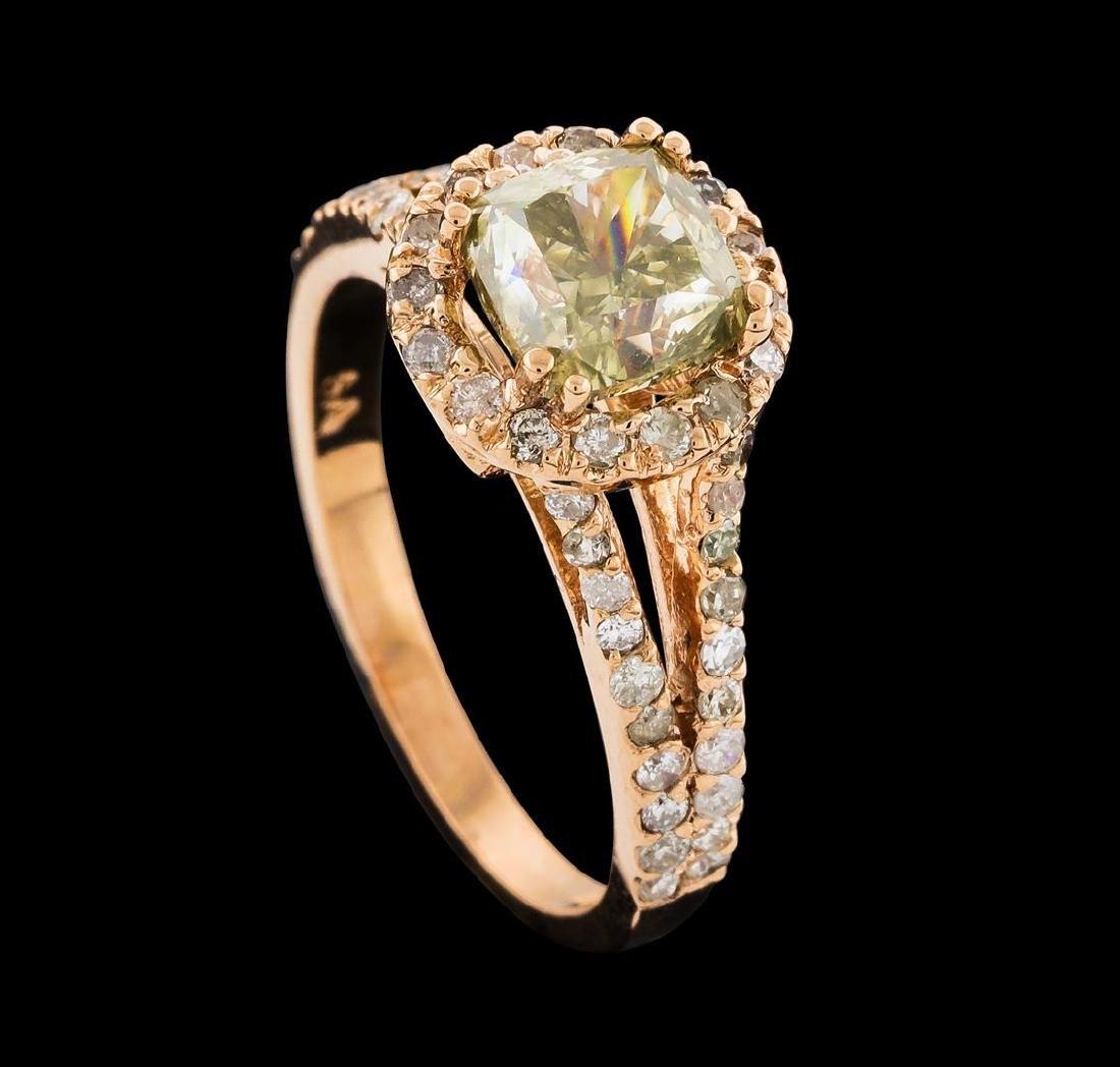 2.43 ctw Diamond Ring - 14KT Rose Gold - 4