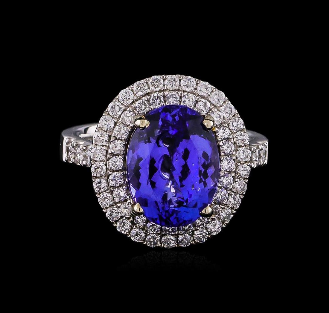 14KT Two-Tone 2.01 ctw Tanzanite and Diamond Ring - 2