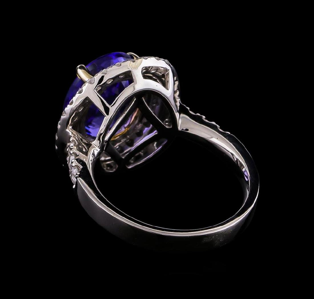 14KT Two-Tone 2.01 ctw Tanzanite and Diamond Ring - 3