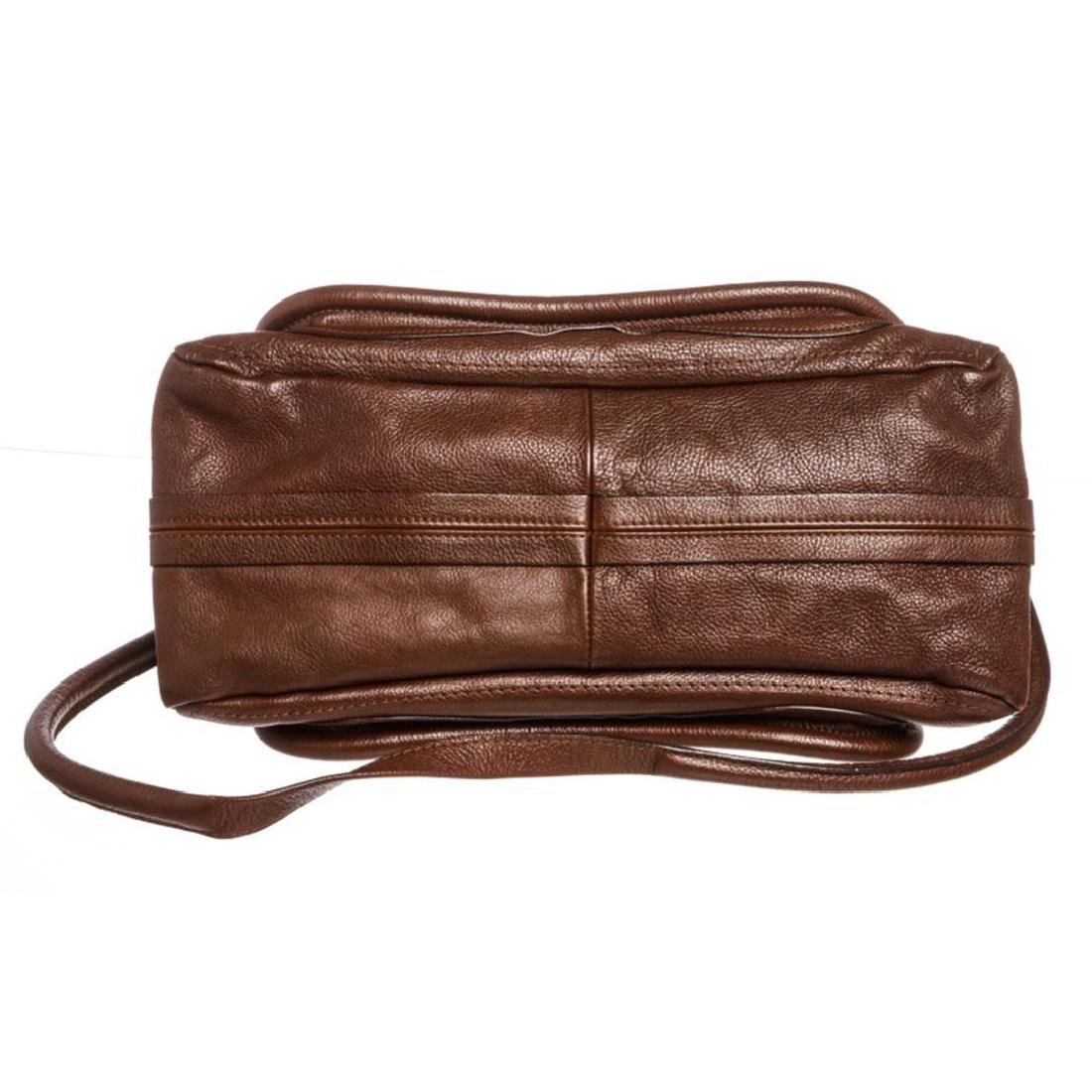 Chloe Brown Leather Paraty Medium Satchel Handbag - 4