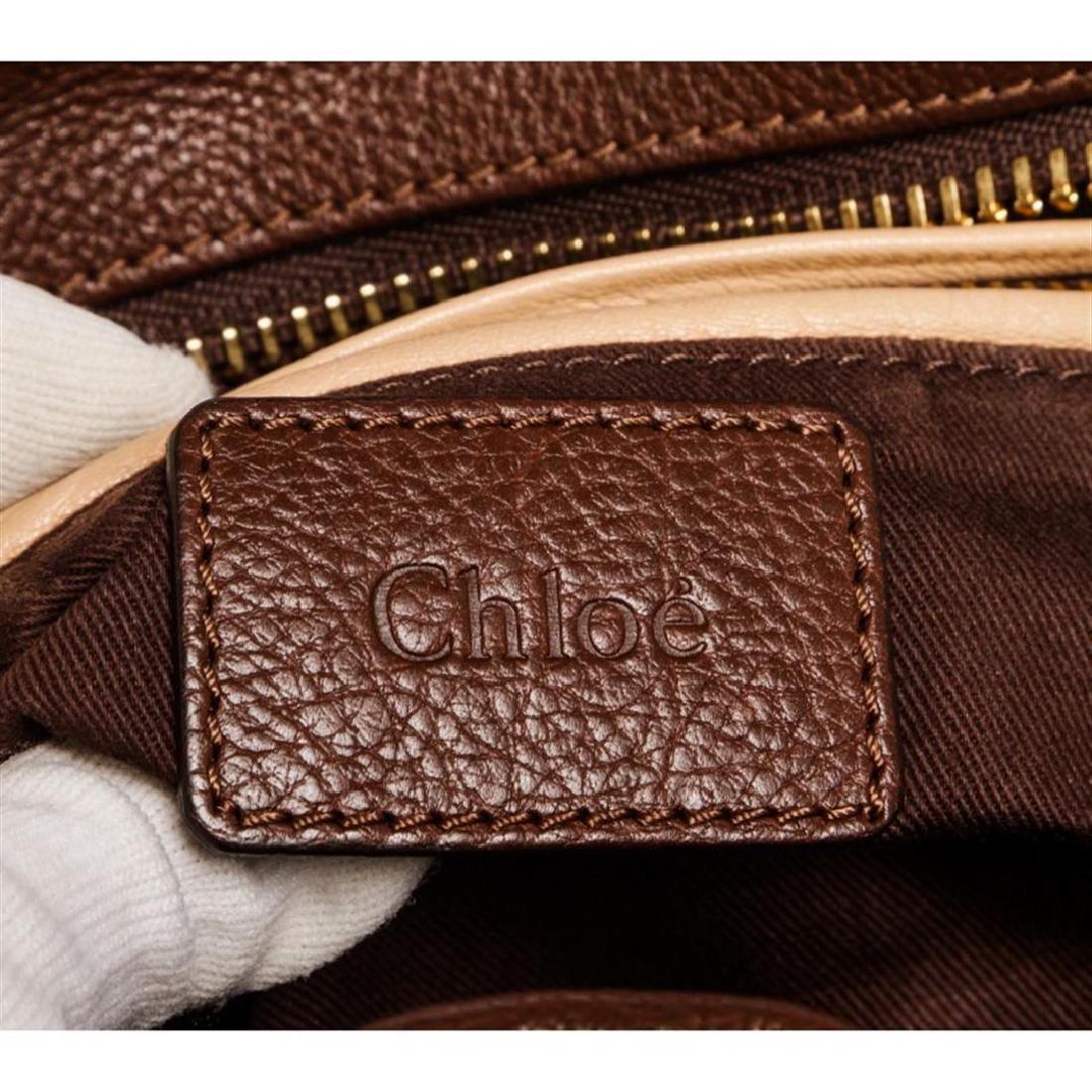 Chloe Brown Leather Paraty Medium Satchel Handbag - 6