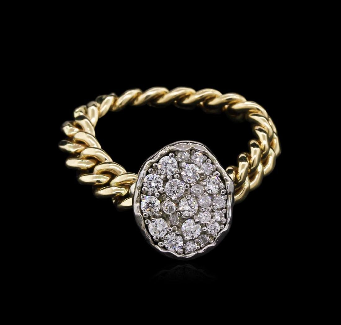 0.40 ctw Diamond Ring - 14KT Two-Tone Gold - 2