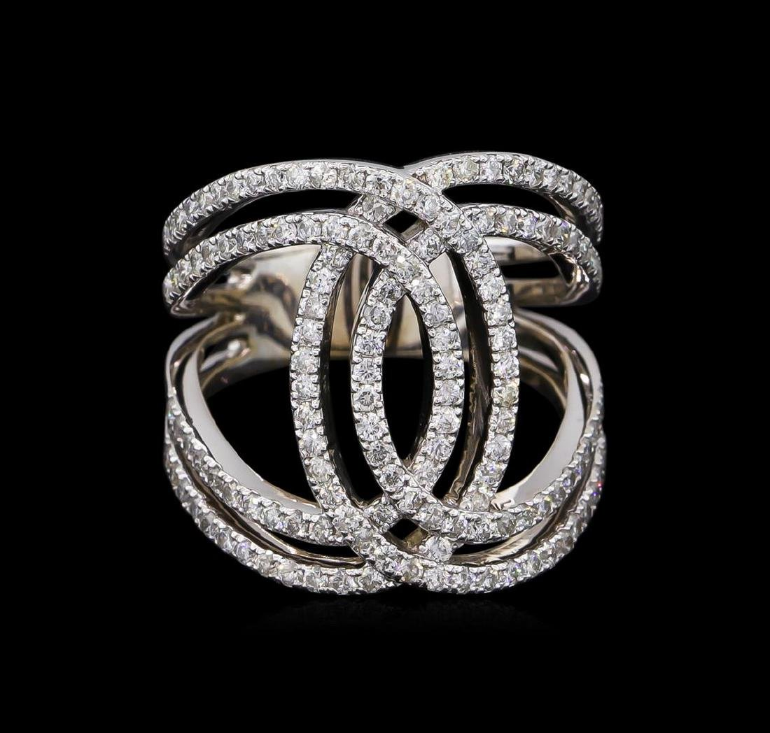 1.26 ctw Diamond Ring - 14KT White Gold - 2