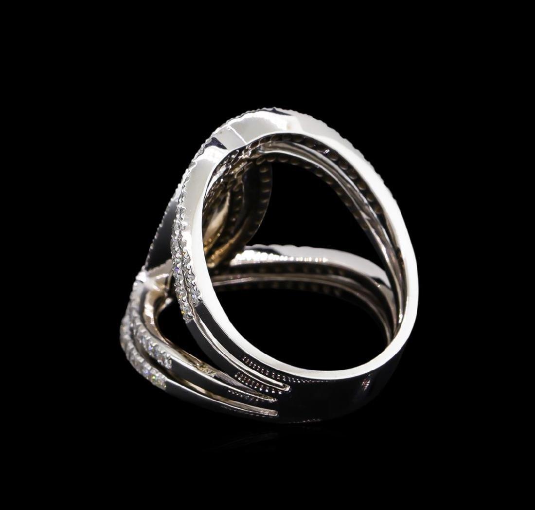 1.26 ctw Diamond Ring - 14KT White Gold - 3