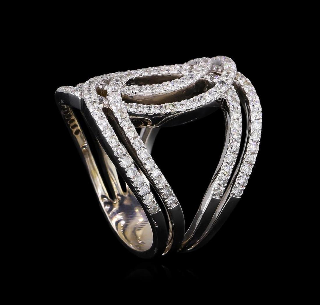 1.26 ctw Diamond Ring - 14KT White Gold - 4
