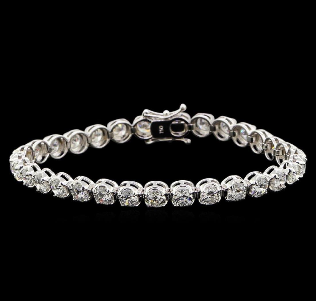 18KT White Gold 9.66 ctw Diamond Tennis Bracelet