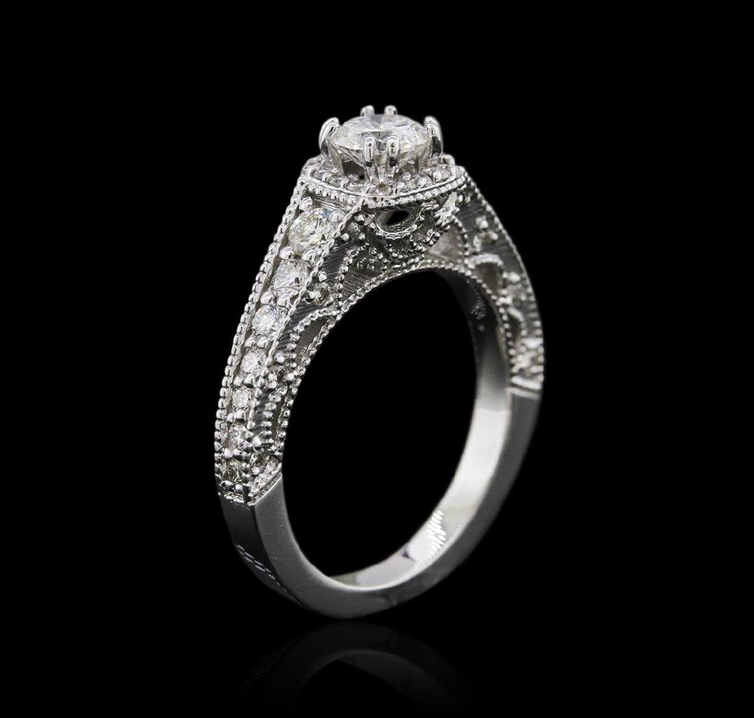 14KT White Gold 1.22 ctw Diamond Ring - 3