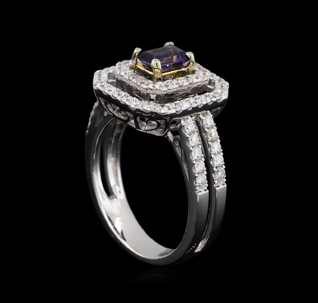 14KT White and Yellow Gold 0.40 ctw Tanzanite and - 4