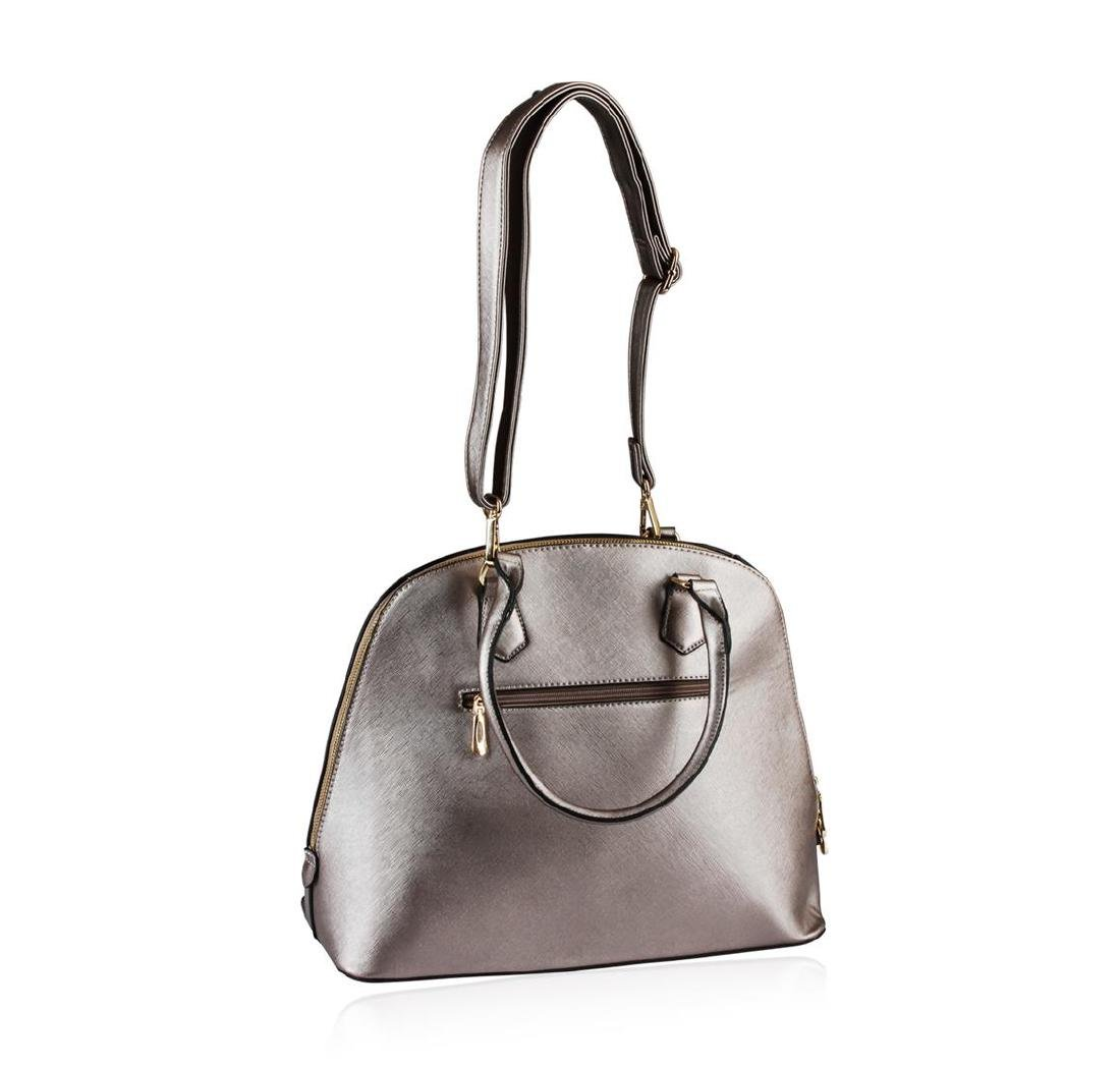 Metallic  Silver Rush Handbag - 3