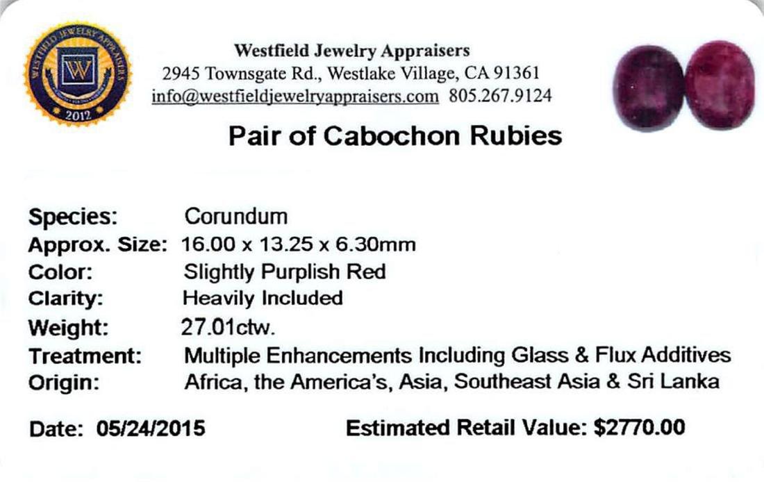 27.01 ctw Cabochon Ruby Parcel - 2