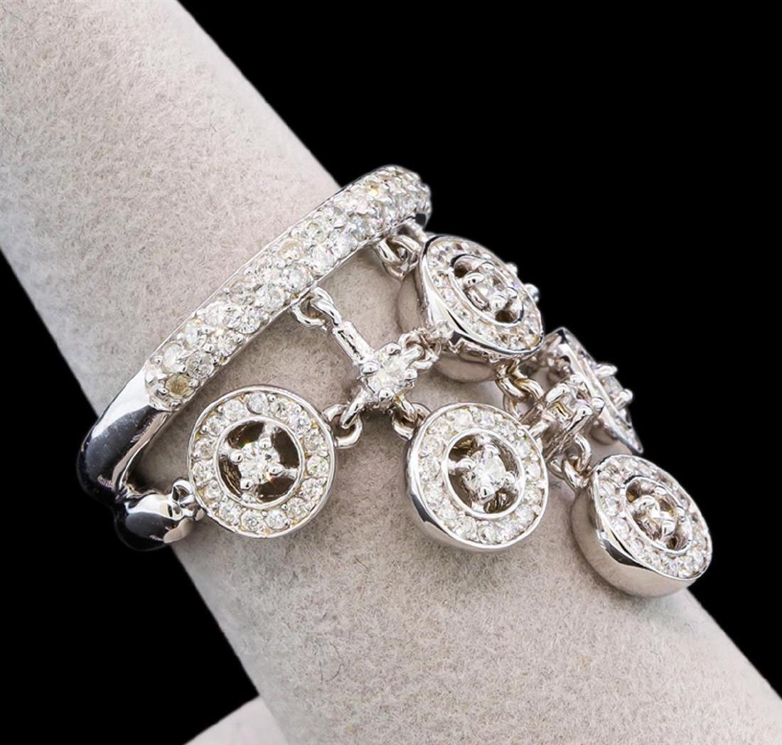 14KT White Gold 1.35 ctw Diamond Ring - 2